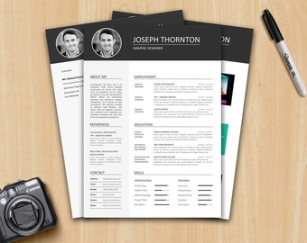 Resume Template / CV Template + Cover letter + Portfolio - Instant download