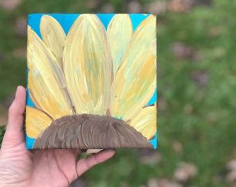 Sunflower wood block
