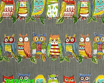 "18"" x 18"" Richloom R Gallery Hoot Owls Mercury Pillow Cover"