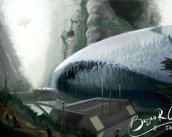 Dome City, 11x17 Print