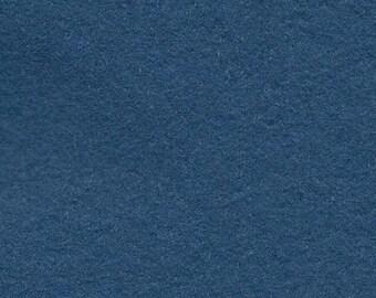 Wool Felt - Deep Sea Blue - Sold By the Half Yard (BTHY)