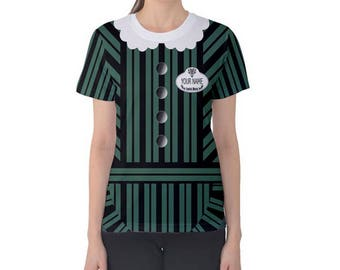 Custom Name Female Haunted Mansion Castmember Inspired women's costume Shirt