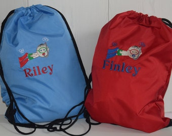Personalised Boys Swimming Bag Beach Bag Pool Bag