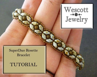 Pattern for SuperDuo Rosette Bracelet