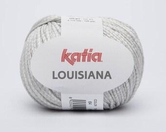 Louisiana cotton Katia wool gray 64