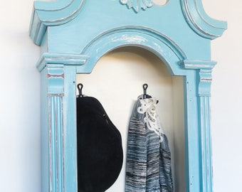 Shabby Chic Upcycled Coat/Entry Way Rack