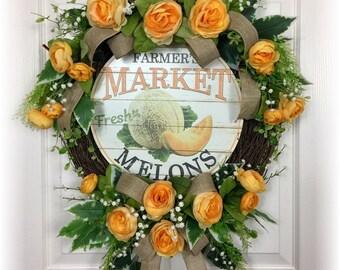 Summer Wreath, Floral Wreath, Grapevine Wreath, Ranunculus, Rustic Wreath, Country Wreath, Front Door Wreath, Front Door Decor, Romantic