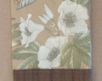 Gladiolas and Snails with brown woven contrast, wine or car trash bag, washable, dryable, FREE SHIPPING.