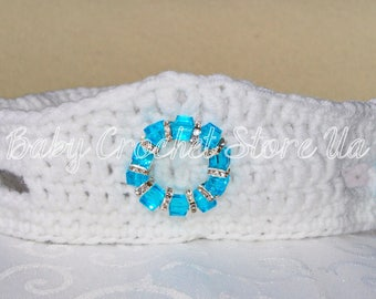 FROZEN Baby Crochet Crown Tiara Cute Baby Crown Baby Girl Crown Girl Crochet Tiara Baby Crochet Crown Headband