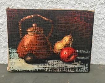 Surrealist Still Life Oil on Canvas Italy