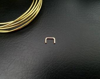 20g 18g 16g 14k Gold Filled Septum Retainer Hide Your Piercing Septum Hider Septum Retainer Conceal