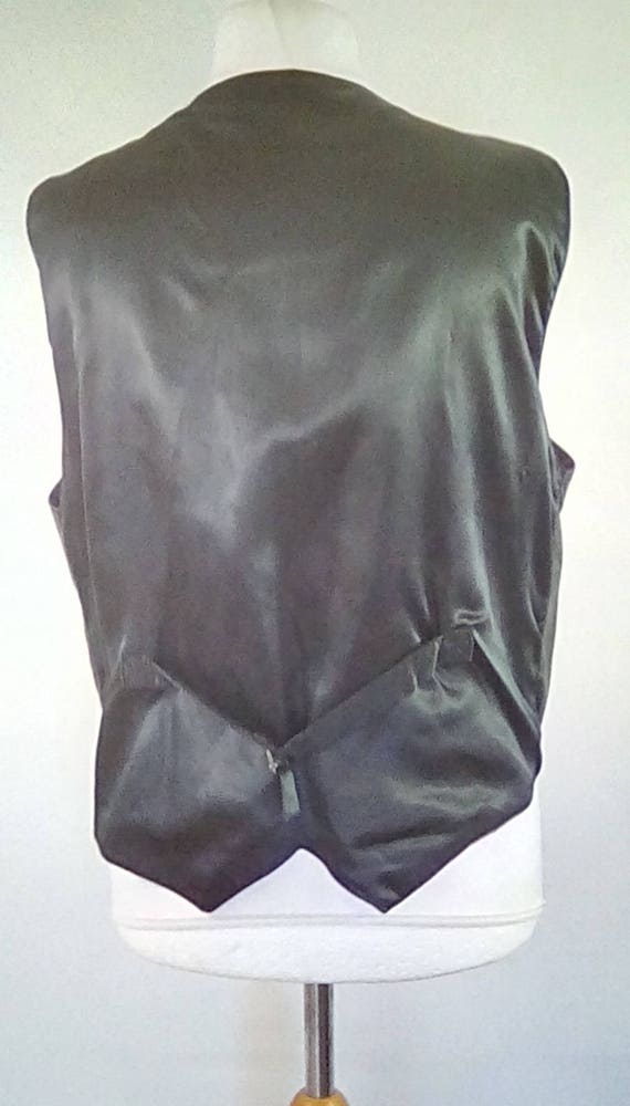 Vintage mens black leather waistcoat vest by The Hudson Leather Co made from black leather XL size extra large gIKx2Wgzpe