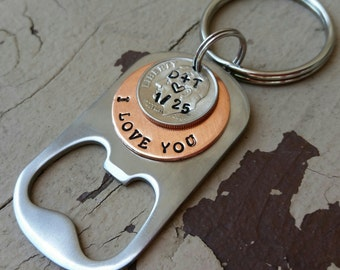 I still do Husband Gifts Personalized 10th Anniversary Gifts For Men Dime Jewelry 10 Years Gift HandStamped Couples gift for Him/Her gift