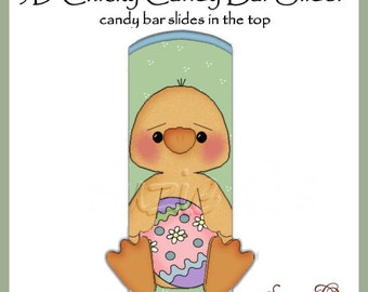 Boy Chicky Candy Bar Slider for Easter - Digital Printable - Immediate Download