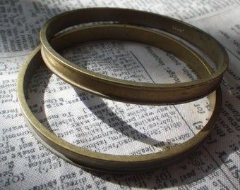 Solid Brass Vintage Bracelet Blanks with 4mm Channel 2 Pcs