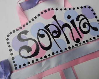 Hair Bow Holder-Pink,lavender light blue personalized