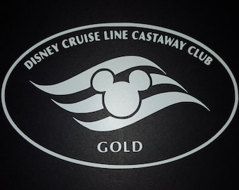 Disney Cruise Line Castaway Club Gold Vinyl Decal