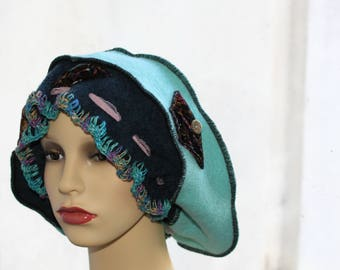 Old Times Wool Hat, Womens Hat, Romantic Hat, Vintage Accessories, Retro Hat