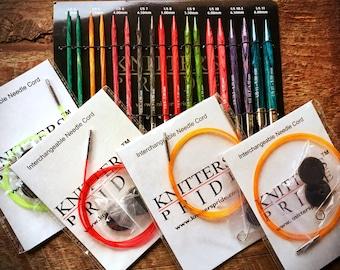 Knitting needles set - Gift for Mom, Knitters Pride Dreamz deluxe interchangable circular knitting needles, gift for her, anniversary gift