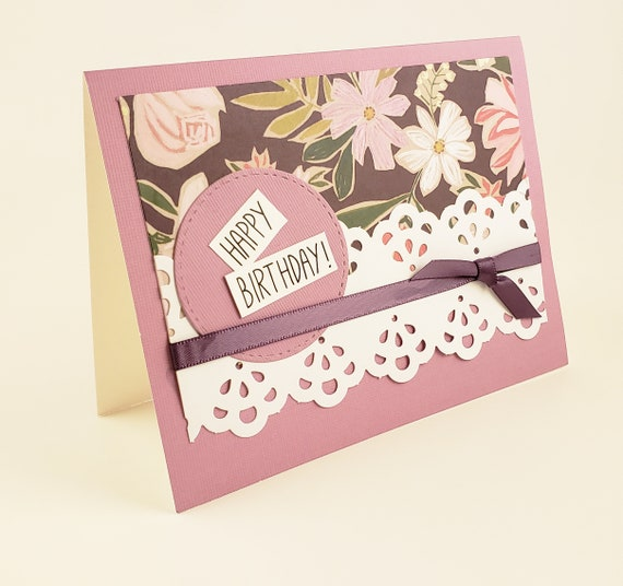 Happy Birthday Handmade Greeting Card Birthday Card Note
