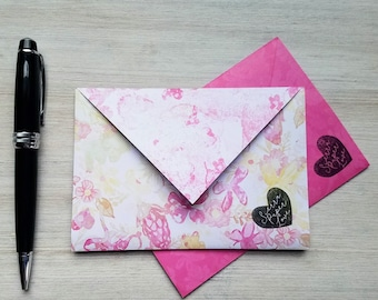 letter writing set, spring stationery set, letter writing paper, writing paper set, envelopes, stationary, gift for mom, floral, watercolor