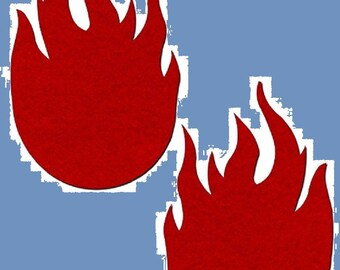 Red Flame Nipple Pasties Cover 1 pair