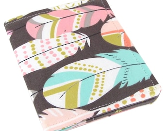 Feather Arrow Wallet, Womans Wallet, Slim Wallet, Travel Wallet, Front Pocket Wallet, Credit Card, Credit Card Wallet, Wallets For Women