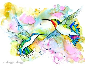 Hummingbird Print - L.