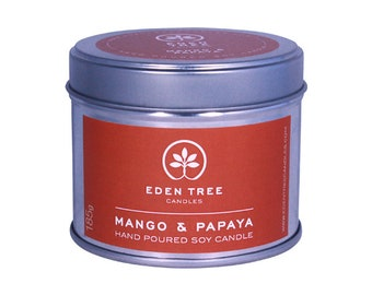 Mango and Papaya soy candle