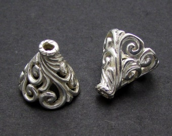 2 Pcs, Sterling Silver Cone