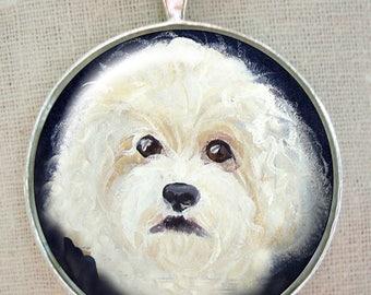 Bichon Frise Keychain ~ April Birthday ~ Ready to Ship ~ Pet Accessories ~ Office Gifts ~ Pet Keepsake ~