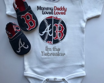 Baseball I'm the Tiebreaker House Divided Shirt or bodysuit and Matching Booties