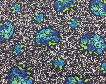 Michael Miller Nosegay bouquet in blue By The Half Metre