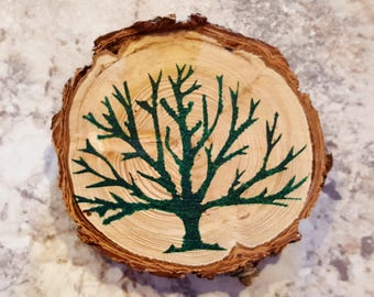Painted Tree Magnet