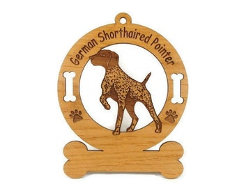 3330 German Shorthaired Pointer Personalized Dog Ornament