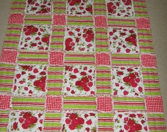 Garden Box Rag Quilt Mailed Paper Pattern by Sew Practical, Mom and Pop Craft