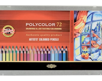 KOH I NOOR Polycolor colored pencil set 72 48 36 crayons 3827 3826 3825 for artist drawing