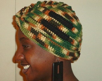 Made of Leaf and Love, Crochet African Mohawk Headwrap
