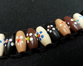 Painted Wood Bead Abacus Golf Stroke Counter, Knitting Row Counter, Lap Counter, Ranger Beads, Water Tracker, Prayer Beads, Free shipping US