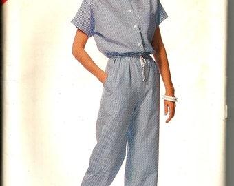 Butterick 6401 vintage 1980's  uncut size 16 - 24 womans jumpsuit