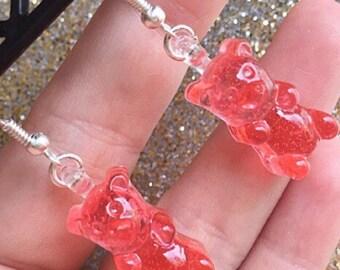 Gummy Bear Earrings Dangle Drop Earrings