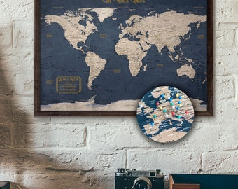 Travel map etsy push pin map gumiabroncs Gallery