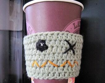 Crocheted Zombie Coffee Cozy