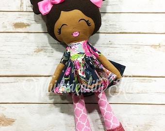 Custom Handmade Doll - Handmade Doll- Lovey Doll - Girl Gift - Cloth Doll - Fabric Doll - Dress up doll - Nursery Decor - diverse dolls