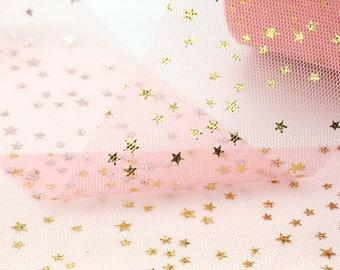 Tulle // Gold Star Tulle // Peach Nectar Tulle // Peach Nectar Gold Star Tulle