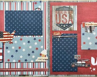 USA 2 Page Scrapbook Kit