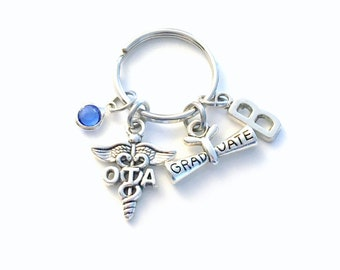Graduation Gift for OTA Keychain, Occupational therapy assistant Keyring, Key chain Therapist assist Initial letter for her women Scroll him