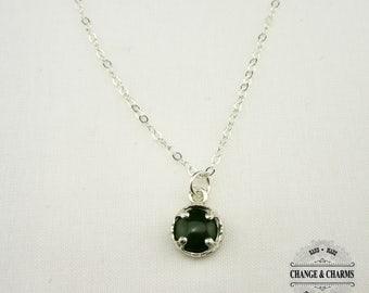Jade Sterling Silver Necklace, Jade Stone, Jade Jewelry, Jade Necklace, Sterling Silver Necklace, Stone Necklace, Silver Jewelry, Jade