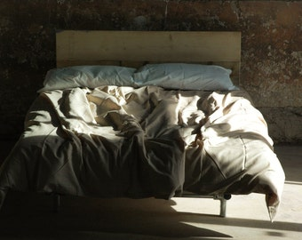 Floating Bed Frame - Modern Rustic Industrial Scaffold  - The Como