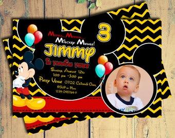 mickey mouse birthday invite